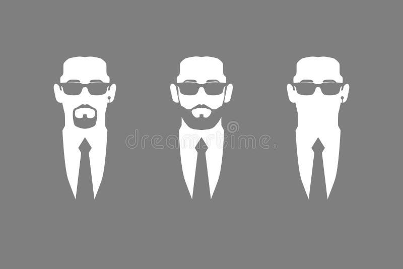 灰色的三位保镖 皇族释放例证