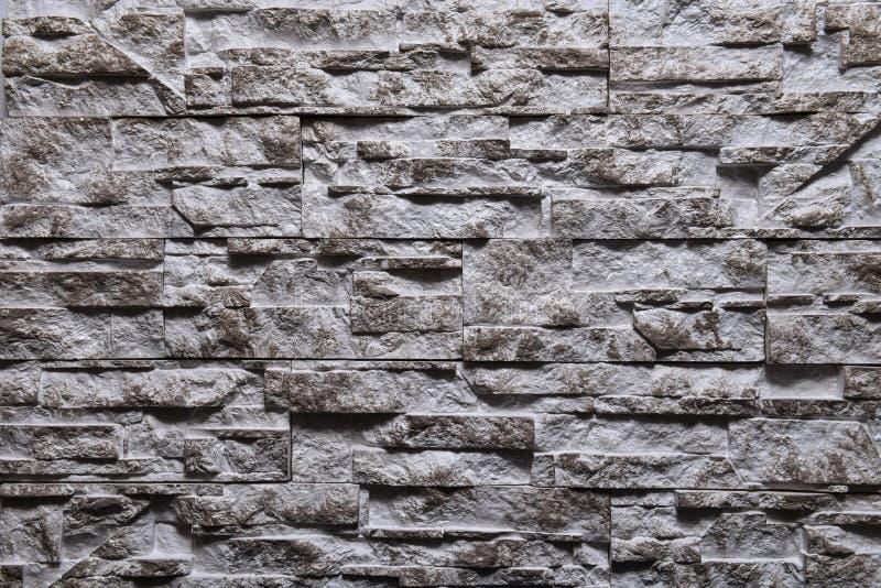 灰色石墙纹理背景自然颜色 免版税库存照片