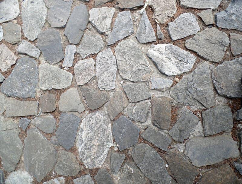 灰色石头老村庄路 库存图片