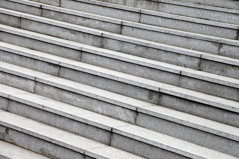 灰色石步 免版税库存照片