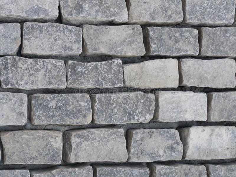 灰色石砖纹理 免版税图库摄影