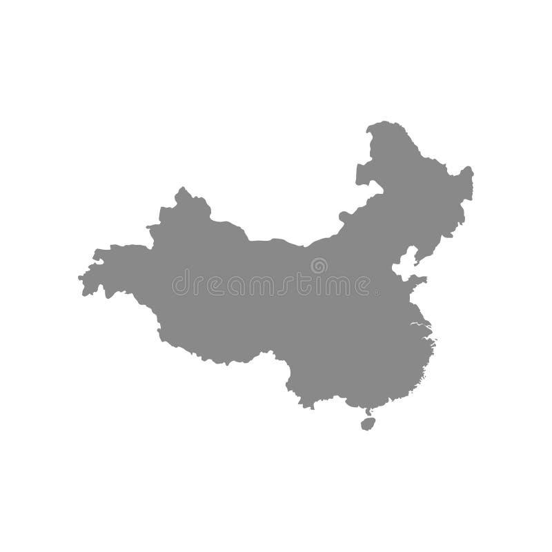 灰色空白中国地图 r 向量例证