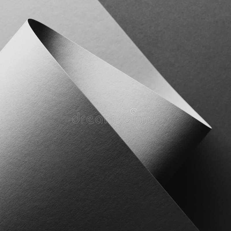 灰色空的纸板料摘要背景特写镜头视图  免版税库存照片