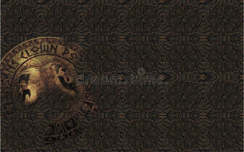 灰色背景& x28; texture& x29;大奖章 免版税库存照片