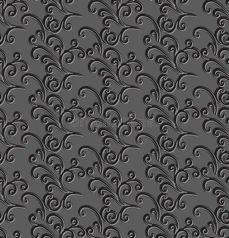 灰色花卉背景 库存例证