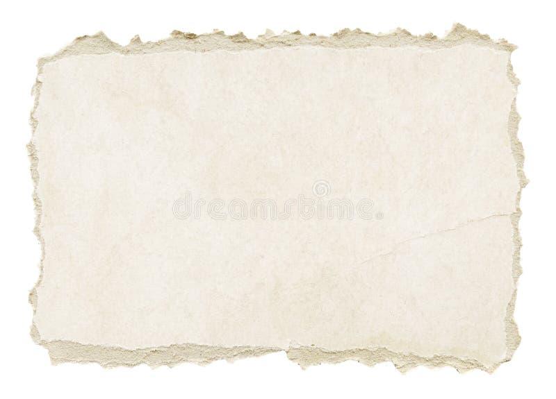 灰色被撕毁的难看的东西纸纹理 免版税库存照片