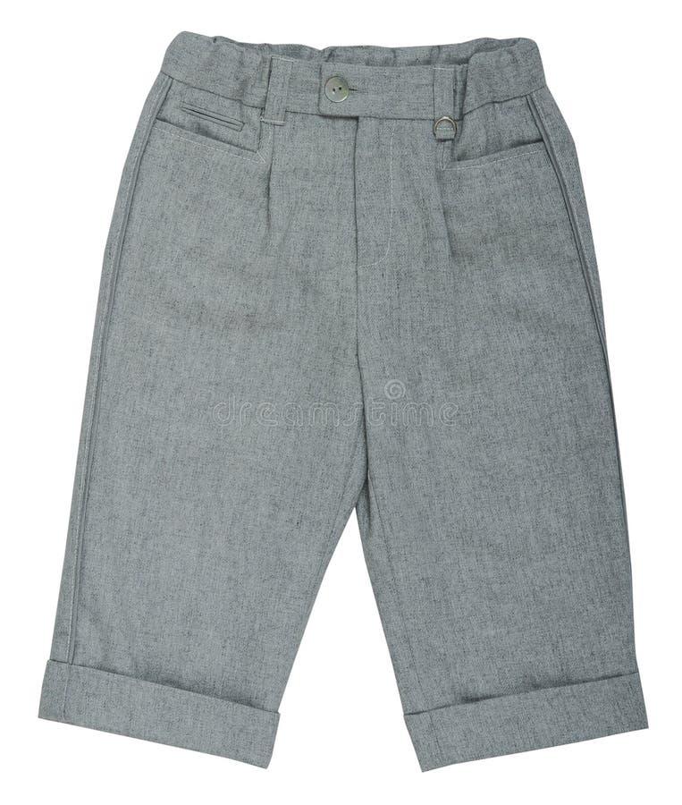 灰色裤子 免版税库存图片
