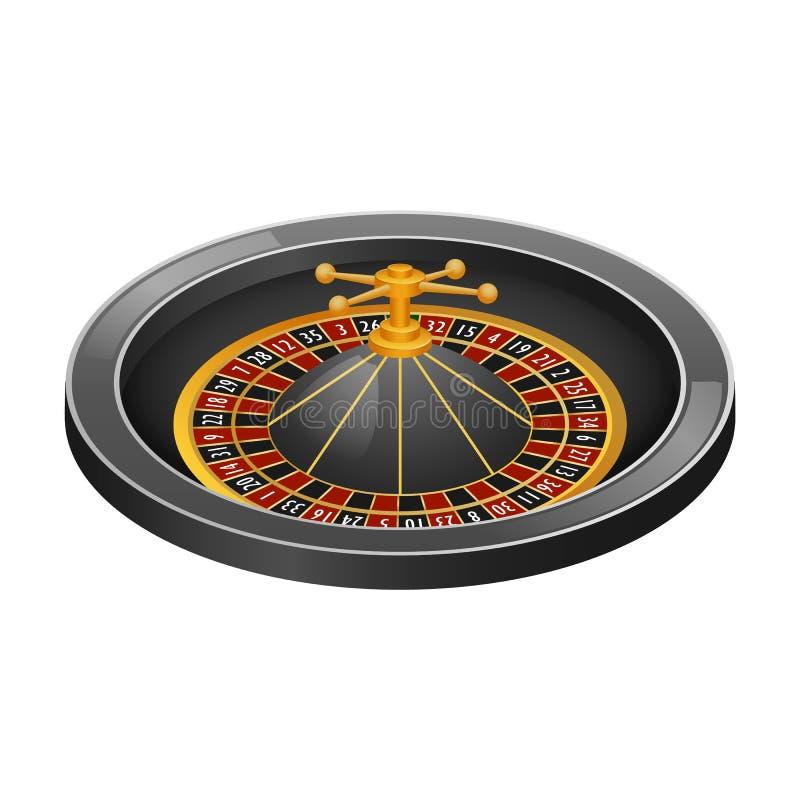 灰色轮盘赌赌博娱乐场大模型,现实样式 向量例证