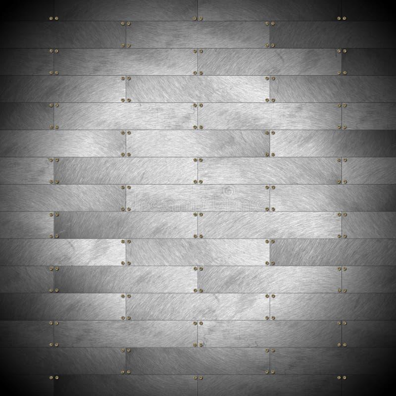 灰色金属墙壁 向量例证