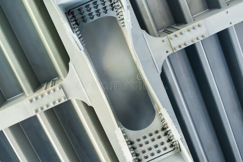 灰色金属框架 关闭 免版税库存照片
