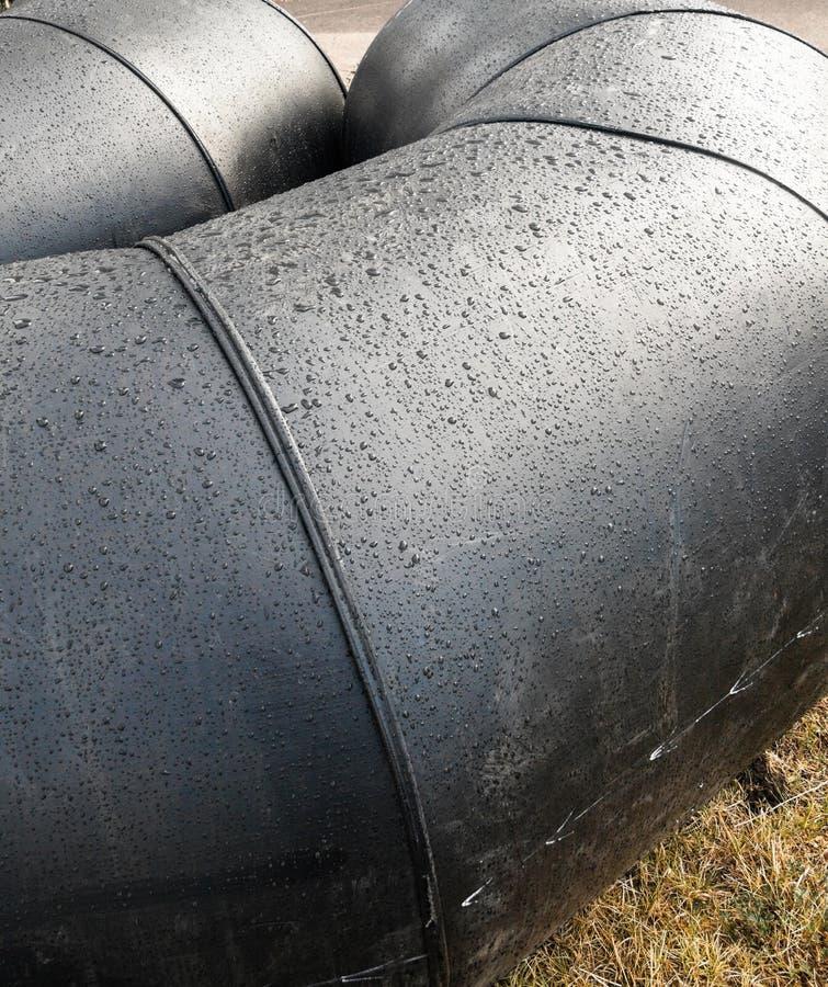 灰色金属管子管表面 免版税库存照片