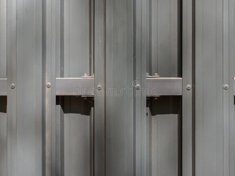 灰色金属篱芭关闭 图库摄影