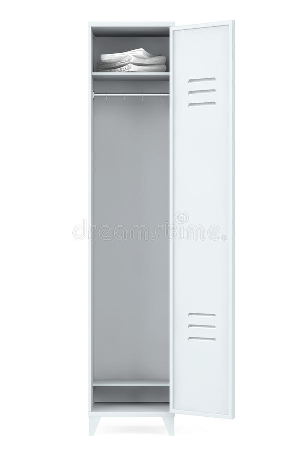 灰色金属衣物柜 向量例证