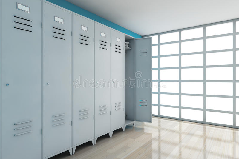 灰色金属衣物柜 3d翻译 库存例证