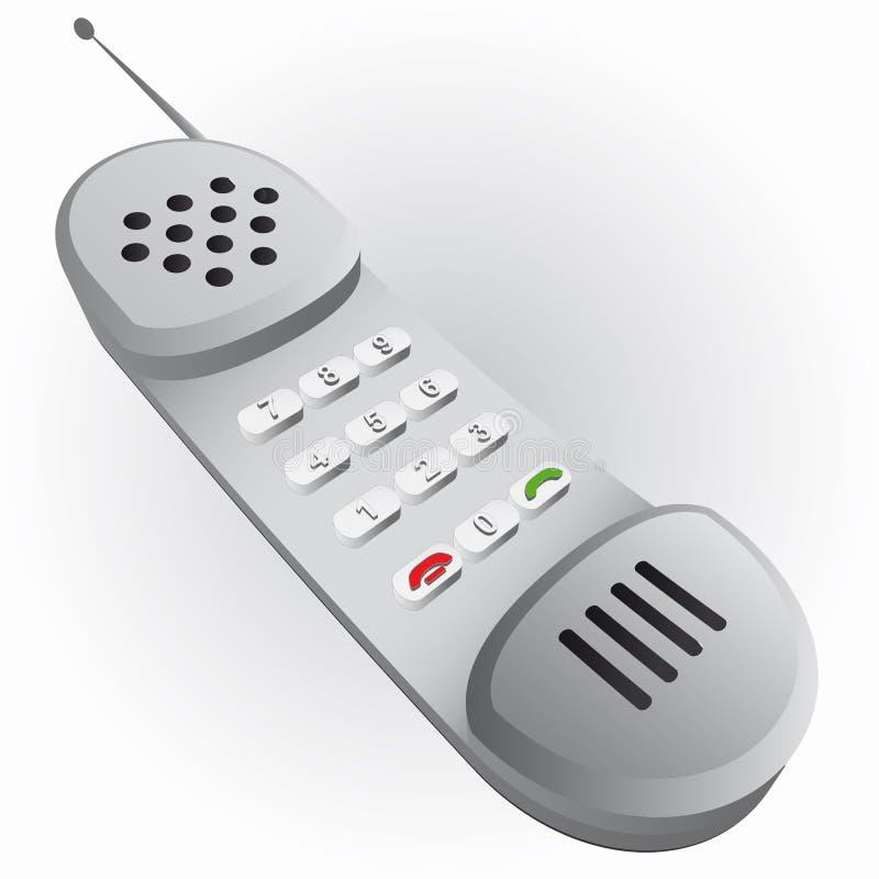 灰色金属被遮蔽的老手机电话   向量例证