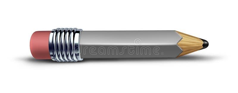 灰色铅笔短小 皇族释放例证