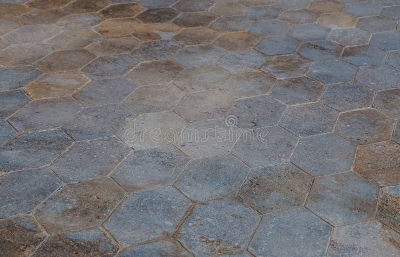 灰色铺路石,透视图 免版税库存图片