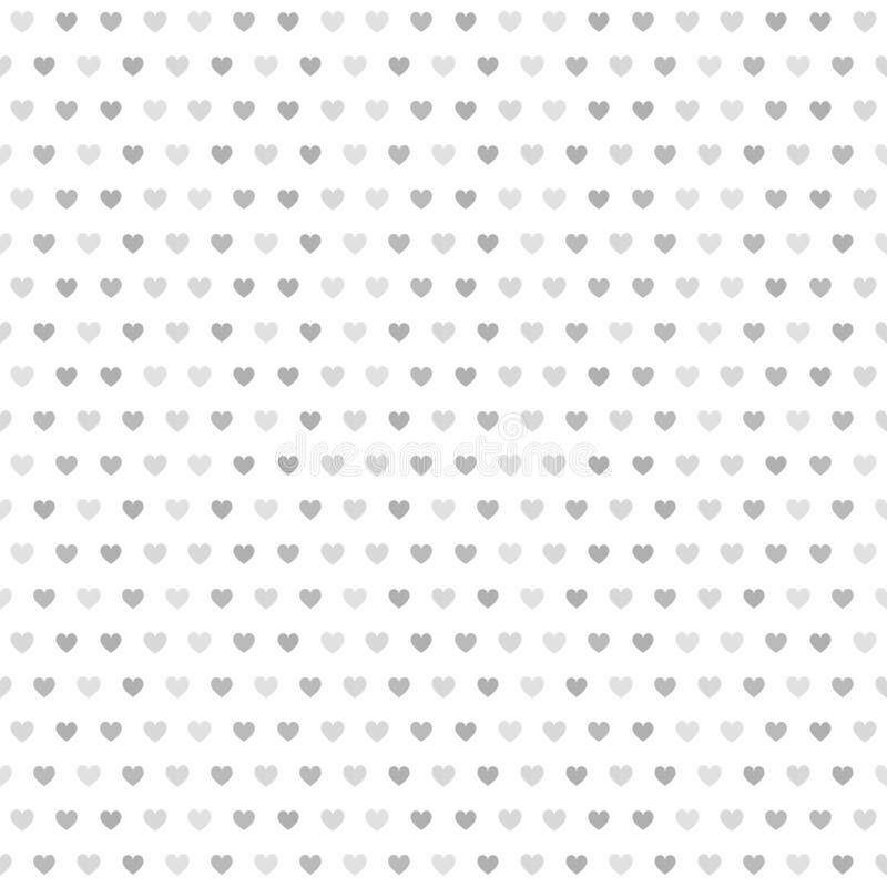 灰色镶边心脏样式 背景无缝的向量 皇族释放例证