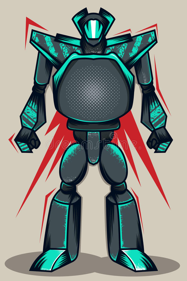 灰色难看的东西机器人 向量例证