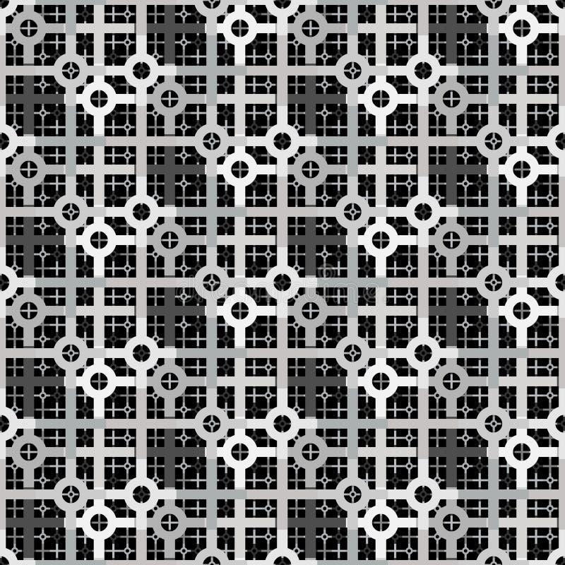 灰色颜色未来派几何重复的样式 库存例证