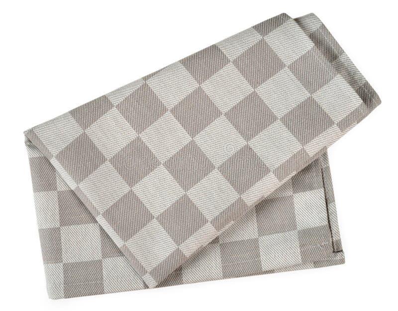 灰色餐巾 免版税库存照片