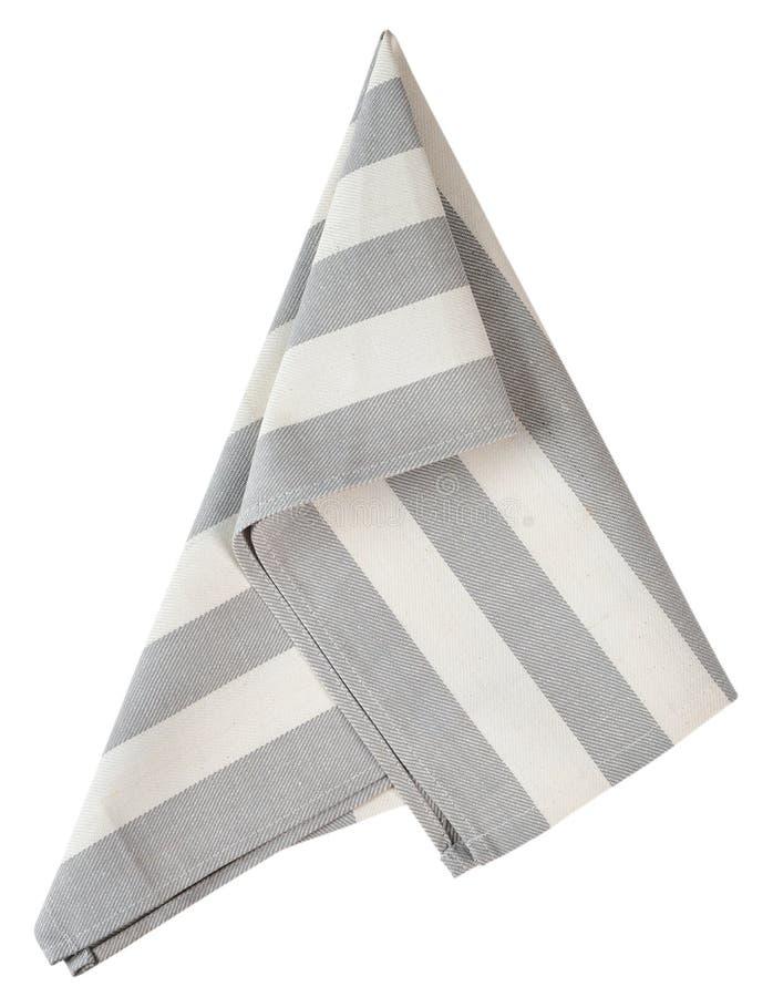 灰色餐巾 免版税图库摄影