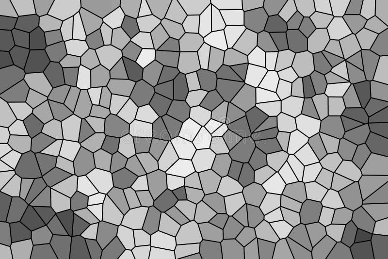 灰色马赛克的抽象纹理 皇族释放例证