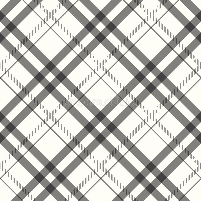 灰色黑白色映象点检查格子花呢披肩无缝的样式 也corel凹道例证向量 库存例证