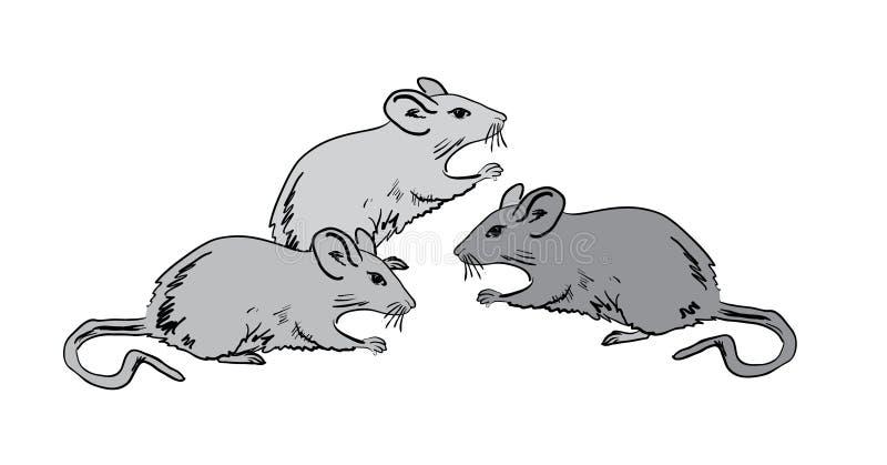 灰色鼠标 向量例证