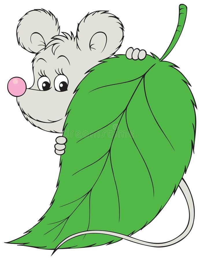 灰色鼠标 皇族释放例证