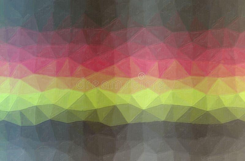 灰色,黄色和红色对比油画背景的抽象例证 免版税库存图片