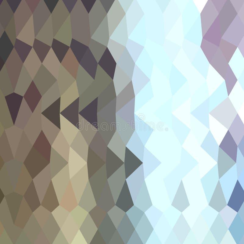 灰褐色抽象低多角形背景 库存例证