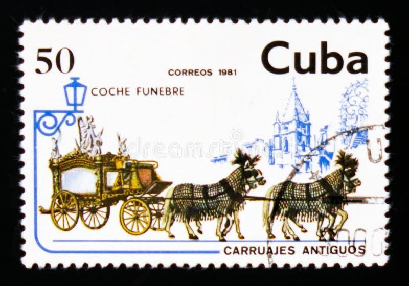 灵柩车,运输serie,大约1981年 免版税库存照片