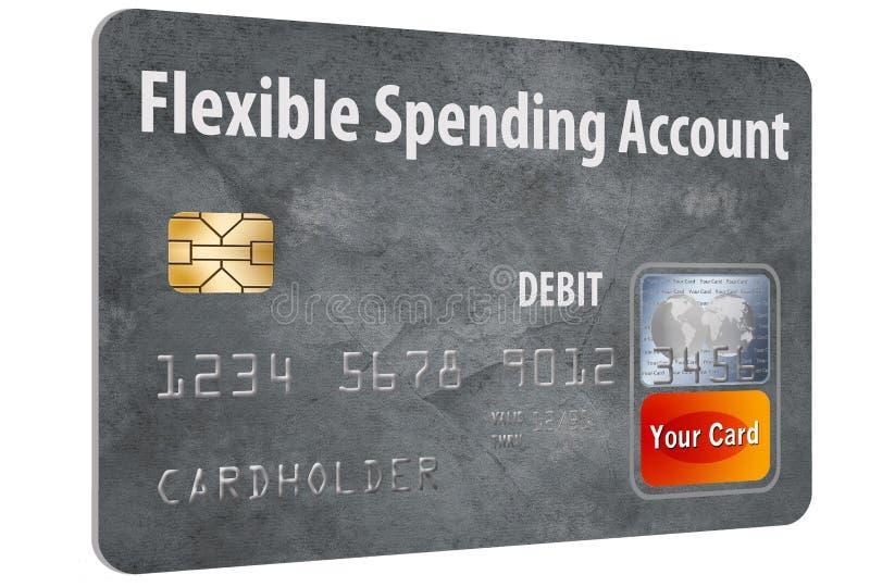 灵活的消费帐户FSA转账卡 向量例证