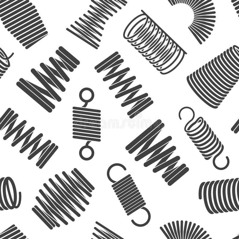 灵活的螺旋样式 金属有弹性扭转和变紧密的形式弯曲了导线卷导航纺织品的无缝的样式 皇族释放例证