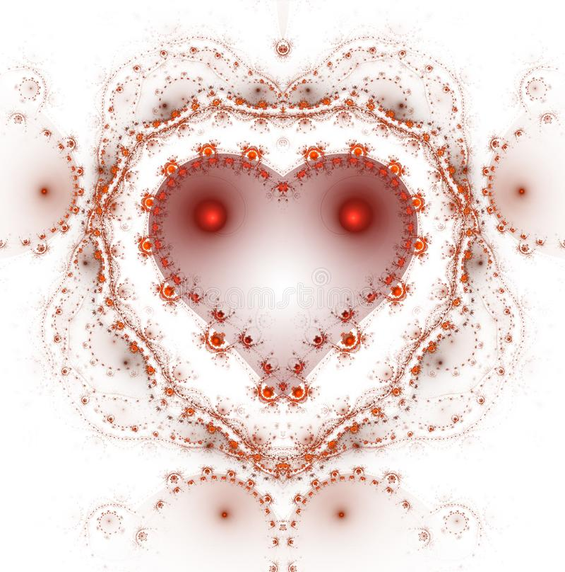 灼烧和打的心脏 Valentine& x27;s天背景 ?? 皇族释放例证
