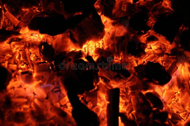 灼烧热 库存图片