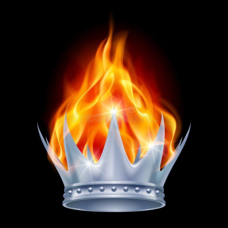 灼烧的冠 库存例证