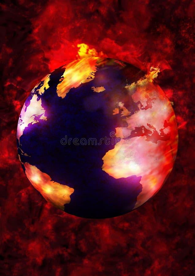 灼烧的地球 向量例证