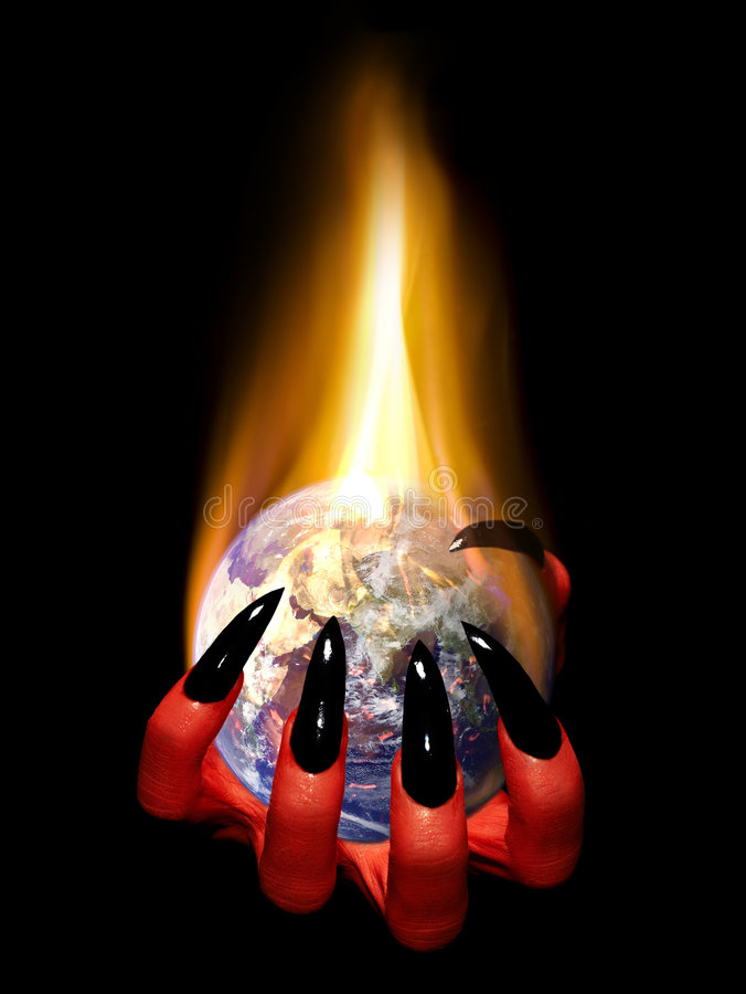 灼烧的地球 免版税图库摄影
