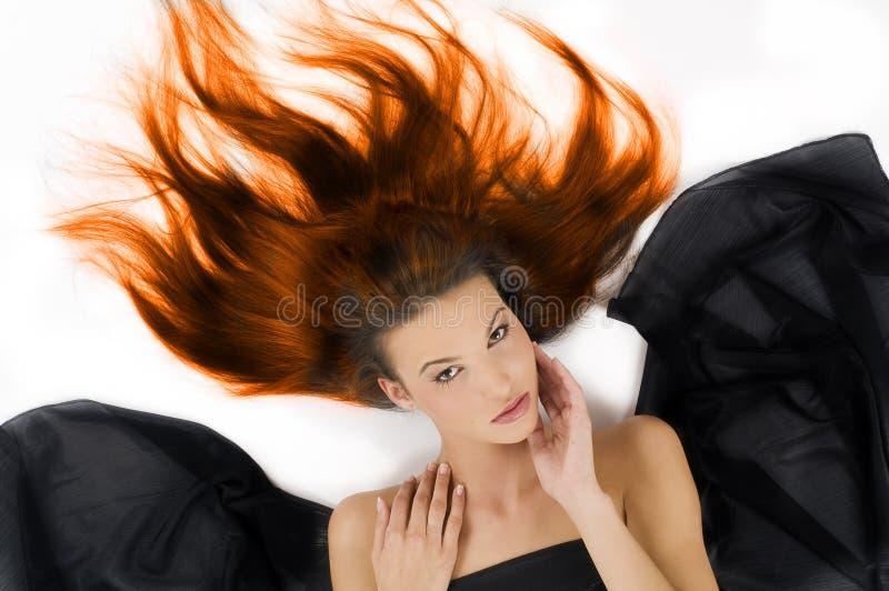 灼烧的头发 免版税库存照片