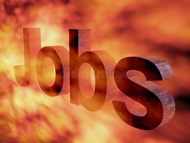 灼烧的工作 向量例证