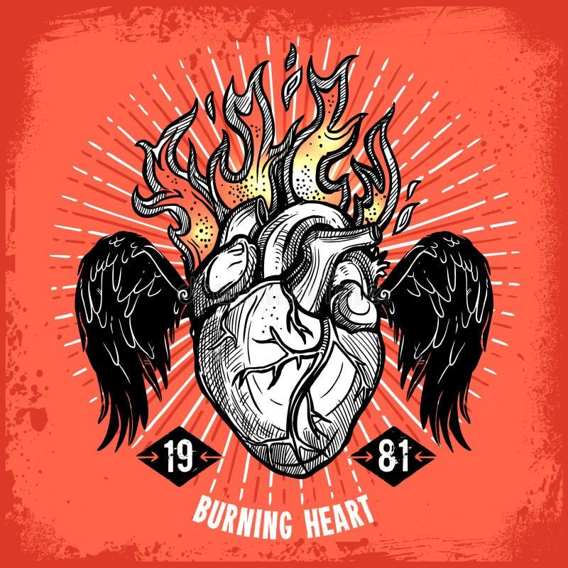 Download 灼烧的心脏纹身花刺海报 向量例证. 插画 包括有 现有量, 框架, 幻想, 爱好健美者, 神秘, 象征, 重点 - 72357938