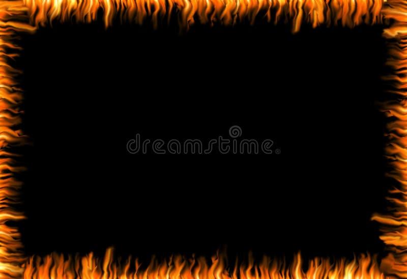 灼烧的框架 库存照片
