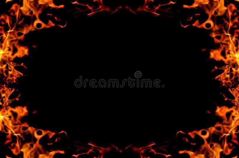灼烧的火框架 库存图片