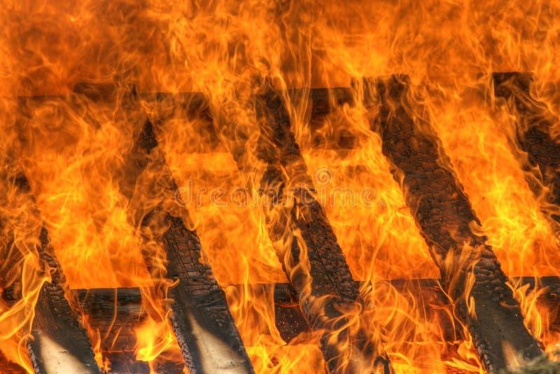灼烧的火火焰 库存图片