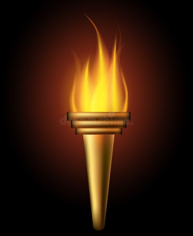 灼烧的火炬 库存例证