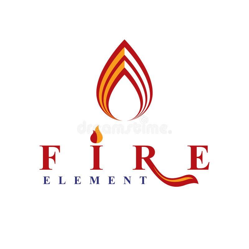 灼烧的火焰的力量,火元素摘要传染媒介商标fo 皇族释放例证