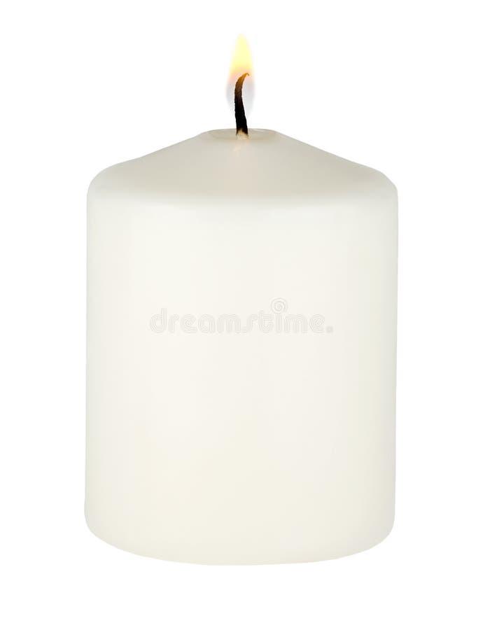 灼烧的空白蜡烛 免版税图库摄影