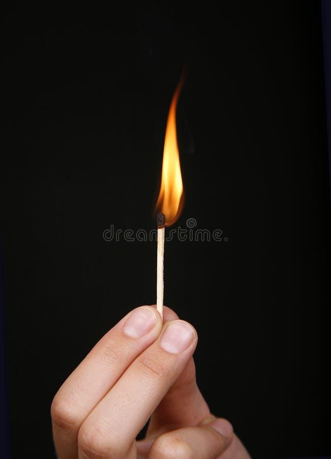 灼烧的符合棍子 免版税图库摄影